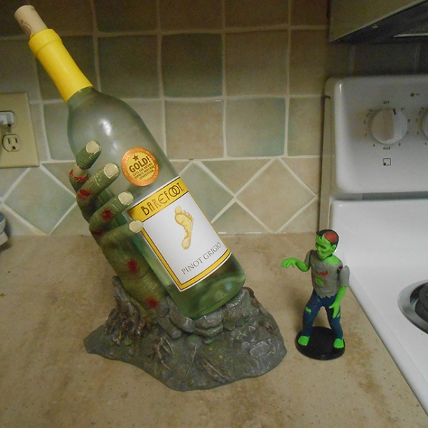 zombie hand wine bottle holder