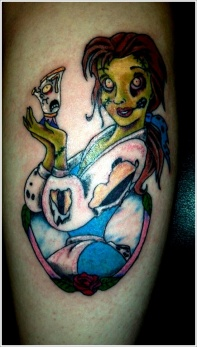 belle disney zombie tattoo