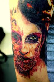 creepy scary zombie tattoo