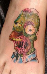 homer simpson zombie tattoo