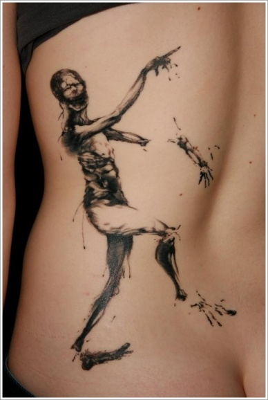 scary stories zombie tattoo
