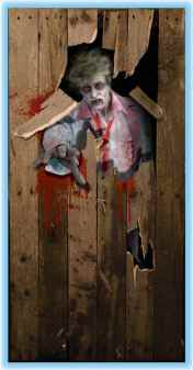 zombie door cover halloween prop